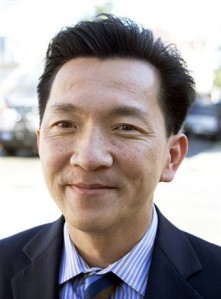 Joseph Cao in New Orleans campaigning for Republican U.S. Congress, Friday, Nov. 21, 2008. ( AP Photo/Judi Bottoni)