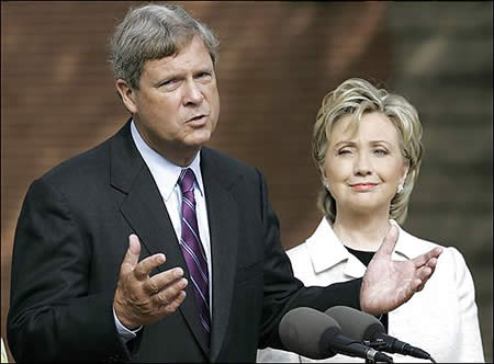 tom-vilsack_hillary-clinton
