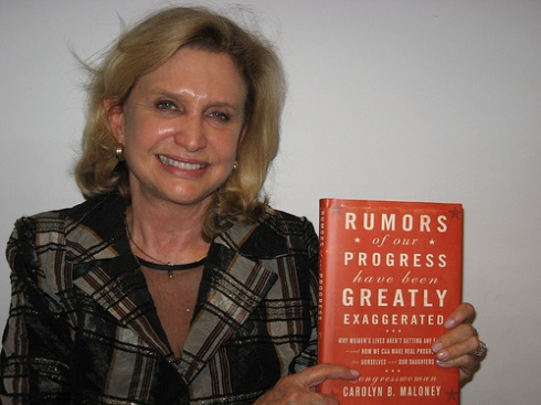 Carolyn Maloney & her book about women's progress in WNYC studios