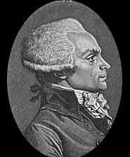"The mysterious and menacing figure of Maximillien Robespierre; ""The government of liberty is the despotism of liberty against tyranny."" Robespierre's legacy of ""despotism"" was not to bloom fully until the pogroms of the 20th century. Of course, Robespierre himself was guillotined during the Terror. (cr-Rich Geib)"