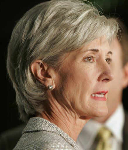Wonder Woman to Orszag's Batman, Kathleen Sebelius