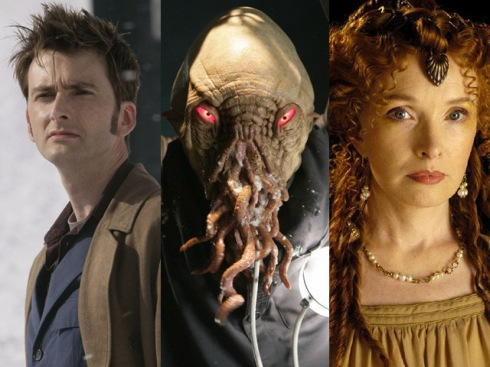 "Dr Who Special 2: Lindsay Duncan spotted on set with David Tennant, a ""robot"", some snow and Ood Sigma"
