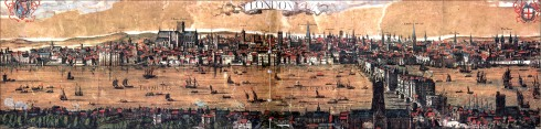 Visscher's Panoramic View of London, 1616