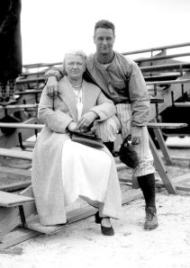The Iron Horse and his mama Christina. Lou Gehrig will always be a hero for the man he was as well as the athelete. Credits: Daily News