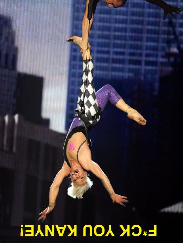 P!NK performed at the VMA's last night..