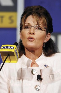 Former U.S. vice presidential nominee Sarah Palin attended the 16th annual CLSA Investors' Forum in Hong Kong Wednesday. AP