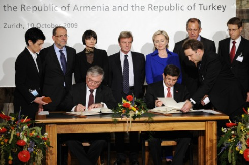 "Secretary Clinton was supposed to just witness the signing of a Turkish-Armenian accord in Switzerland this weekend, but she ended up having to do frantic, high-level diplomacy to save the day when the agreement appeared on the verge of unraveling at the last minute.  The Turkish and Armenian foreign ministers --whose countries have a long history of enmity for reasons described in this recent FP article -- got in a dispute over the final statements they would make after the signing. That's where Clinton stepped in to save the day. In frantic, last-minute diplomacy, she spoke by phone from her sedan in the hotel parking lot, talking with the Armenian side three times and the Turkish side four times. After two hours of phone calls, she met with the Armenian foreign minister in the hotel. She also contacted President Obama several times from the hotel and the University of Zurich, the venue for the signing ceremony.  In the end, as a result of Clinton's astute diplomatic skills, the signing of the historic accord took place only three hours late (vs. not at all), and no spoken statements were made. The agreement is expected to be ratified by Turkey's and Armenia's parliaments, and the border between the two countries -- which has been closed for 16 years -- could reopen within two months.  For Clinton, it was all just part of another day's work. ""It's just what you sign up for,"" she told reporters later in the day."