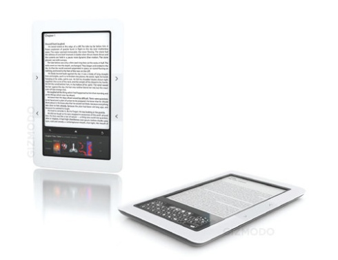 Sneak Peek of BnN;'s ebook reader from Gizmodo